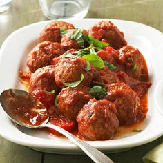 Low-carb And Low-calorie, These Meatballs Get Their Italian Flavor From Sweet Peppers And Reduced-sodium Pasta Sauce. Snipped Fresh Basil Makes An Aromatic Topper.