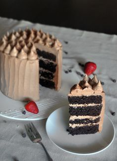 Chocolate Cake With Mexican Chili Chocolate Frosting