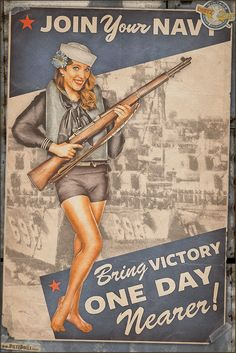Today's pinup is another from the World War 2 Propaganda Pinup Poster series, this time featuring Brittnee in this US Navy poster! While the troops and aircraft stormed ashore and pushed deeper towards the heart of Germany and Japan, it was the US Navy that brought them there and made sure they got there safely. © Dietz Dolls Vintage Pinup Photography: http://www.dietzdolls.com || Facebook Fan Page: https://www.facebook.com/MomentsCapture