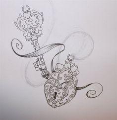 Lock And Key Tattoo | Heart tattoo | Pinterest