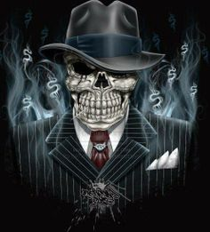 Gangster Skull Cowboy Pictures Tattoos Evil Tatoos