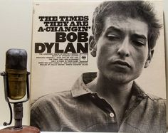 "Vinyl Record Album Bob Dylan 1960s Folk Rock Pop Blues Singer Songwriter Politcal Social LP, ""The Times They Are A-Changin""(1980s re-issue) on Etsy, $20.00"