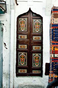 Africa | Door in the Rabat Medina. Morocco.