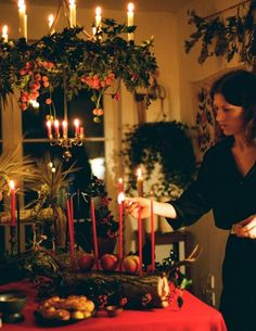 A Step-by-Step Guide to Creating a Traditional Yule Log Set designer Janina Pedan shows us how to celebrate the winter solstice with a traditional pagan log – for the cleansing of sins and the decoration of tables this midwinter Yule Traditions, Winter Solstice Traditions, Pagan Christmas, Christmas Makes, Simple Christmas, Yule Decorations, Christmas Decorations, Holiday Decor, Chocolate Decorations