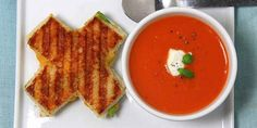 Instead of hearts, serve up X & O grilled cheese and tomato soup. So clever!