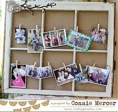 Try It Tuesday~re-purposed window frame!