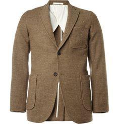Beams Plus Unstructured Slim-Fit Donegal Tweed Blazer | MR PORTER