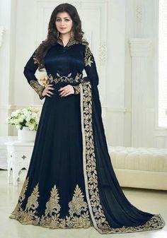 Ayesha Takia Midnight Blue Anarkali Suit