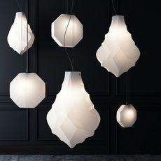 Suspension COQUILLE D ŒUF blanc mandarine ˜74cm Celine Wright