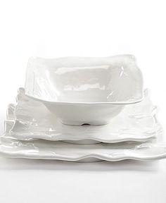 QSquared Serveware, Q Luxe White Ruffle Melamine Collection - Serveware - Dining & Entertaining - Macy's