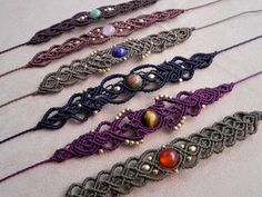 Macrame Delicate Tribal bracelet for gypsy hearts and by QuetzArt