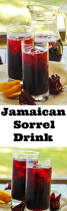Sorrel Drink is part of food_drink - Sorrel Drink is a popular drink that used to be served mostly during Christmas time in Jamaica, but now its served all year round It has great health benefits too! Jamaican Sorrel Drink Recipe, Jamaican Drinks, Jamaican Dishes, Jamaican Recipes, Non Alcoholic Drinks, Cocktail Drinks, Cocktail Recipes, Drink Recipes, Dinner Recipes