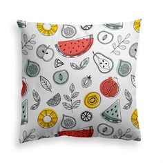 Try our FRUITY LIFE throw pillow. Add color and charm to your home with sweet. Power Nap, Fruit Print, Summer Fruit, Decorative Throw Pillows, Modern Contemporary, Pillow Covers, Finding Yourself, Shapes, Fabric
