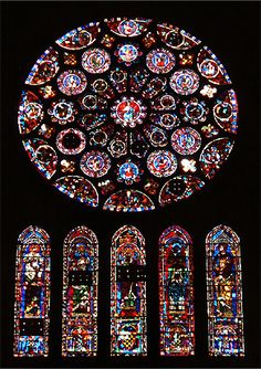 Stained Glass Windows Chartres By Peggy Moberly