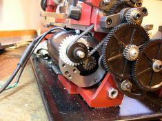 "7"" swing mini lathe motor speed reductions"
