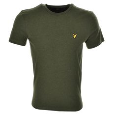 Lyle And Scott Crew Neck T Shirt In Dark Sage Green Marl, A cotton jersey t shirt with a ribbed crew neckline and short sleeves. The signature embroidered Lyle And Scott Golden Eagle logo badge is situated on the left of the chest in golden yellow and black. 100% Cotton. Part Of The Brand New Collection of Lyle and Scott T Shirts, Polos and Jumpers Live Online UK.