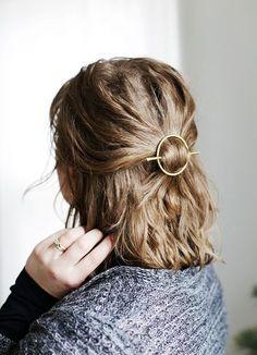 DIY Brass Circle Barrette /themerrythought/