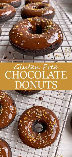 This gluten free chocolate donut recipe is made without eggs, sweetened with maple syrup and completely grain free and dairy free! These are the best vegan chocolate donuts - light, fluffy and topped with a dark chocolate glaze. #chocolatedonuts #vegandonuts #paleodonuts #eggfree #grainfree Best Vegan Chocolate, Chocolate Donuts, Chocolate Glaze, Gluten Free Chocolate, Healthy Donuts, Healthy Vegan Desserts, Paleo Dessert, Eggless Recipes, Donut Recipes