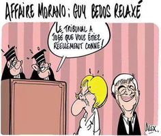 Le journal de BORIS VICTOR : Affaire Morano ..Guy Bedos relaxé....