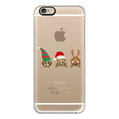 iPhone 6 Plus/6/5/5s/5c Case - Christmas monkeys (59 NZD) ❤ liked on Polyvore featuring accessories, tech accessories, iphone case, iphone cover case and apple iphone cases