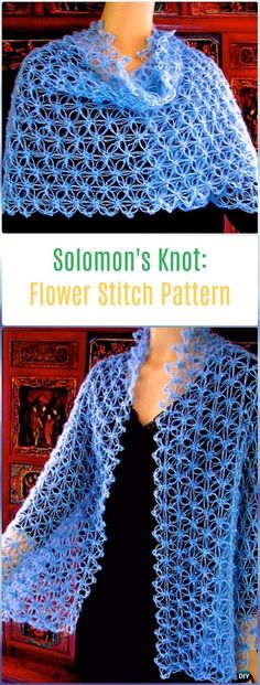 Crochet Solomon's Knot Flower Stitch Free Pattern - Crochet Solomon Knot Stitch and Variations