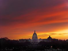 Photo by @stephenwilkes: In January of 2013 I traveled to Washington D.C. to capture a Day To Night of President Obama's second inauguration and its near one million attendants.  The morning of the inauguration when the flags had been draped over the Capitol we were greeted with this incredible sunrise. A peaceful and quiet scene so different from the chaos that would soon be taking place.  To see the final Day To Night of President Obama's second inauguration follow the link in my profile…