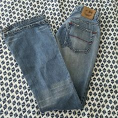 "Guess Patchwork Denim - Size 28 Patchwork, distressed denim - 32"" inseam - 9"" rise Guess Jeans Boot Cut"