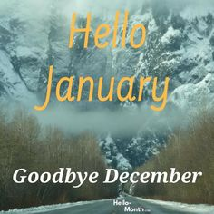 Hello January Goodbye December January Month, Hello January, December Images, Cover Pics For Facebook, Birth Flowers, Months In A Year, Congratulations, Wish, Wallpaper