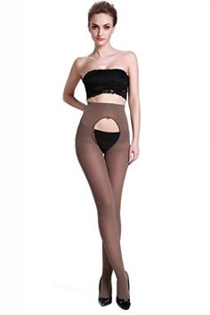 LANGSHA Women's 120 Denier Velvet Opaque Open Crotch pantyhose >>> You can get more details by clicking on the image.