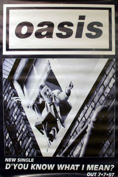For Sale - Oasis D'you Know What I Mean - Man in Window UK Promo  poster - See this and 250,000 other rare & vintage vinyl records, singles, LPs & CDs at http://eil.com