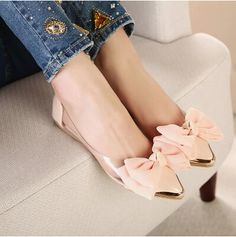 2014 new spring summersweet women flats,pointed sequined toe with big bowtie shoes for women,cansual shoes free shipping XWD670-in Flats from Shoes on Aliexpress.com | Alibaba Group