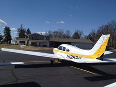 Yellow stripe. 1977 PA-28-181.