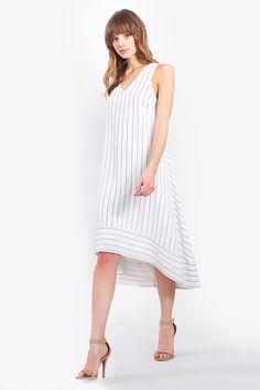 Vertigo Stripe Dress | Cille Dora