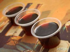 Make Rum and Coke Jello Shots Step 7.jpg  Crown and coke Jell-O shots just for good measure