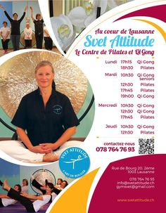 Flyer SvetAttitude Qi Gong, Portfolio Design, Flyers, Chart, Portfolio Design Layouts, Ruffles, Leaflets