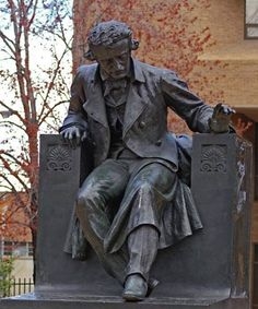 Edgar Allan Poe Statue, Baltimore Maryland  Every year on Poe's birthday, someone mysteriously leaves a bottle of Cognac and a red rose.  Great place to visit the master of dark poetry & intrigue.  Nothing like a visit to the macabre!