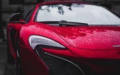 Download wallpapers McLaren P1, 4k, rain, 2017 cars, hypercars, purple p1, McLaren