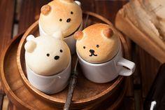 ! (! Yapurogu) yaplog byGMO | :: happy rainbow ★ breakfast bear #cute #food #bread
