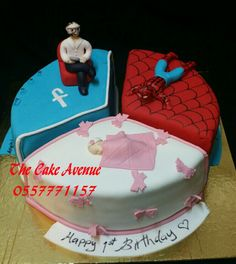 3 in 1 cake Cake, Happy, Desserts, Food, Pie Cake, Meal, Cakes, Deserts, Essen