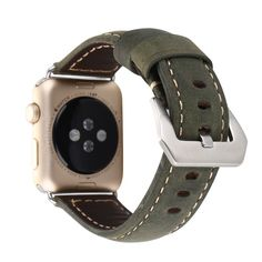 Leather Apple Watch Band Military Green - Made of Leather - Apple Watch Bands/Straps