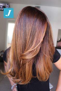 64 Ideas Hair Brown Lob Colour For 2019 - Modern Brown Ombre Hair, Brown Hair Balayage, Brown Blonde Hair, Light Brown Hair, Brown Hair Colors, Brunette Hair, Brown Lob, Caramel Hair Highlights, Ombre Bob