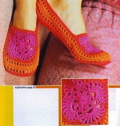 Chaussons Les babouches - crochet slippers FREE pattern in French (hva) (2/5)