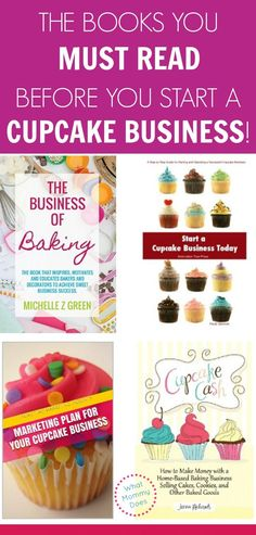 How to Start a Cupcake Business - Books & Ideas to Get You Going - Home Bakery Business, Baking Business, Catering Business, Business Logo, Business Tips, Business Website, Business Planning, Cupcake Shops, Cupcake Bakery