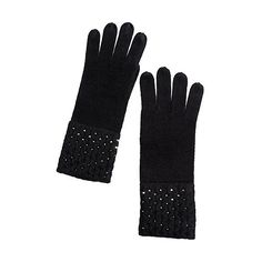 Women's Sparkling Cashmere Gloves ($59) ❤ liked on Polyvore featuring accessories, gloves, gray gloves, grey gloves, cashmere gloves, grey cashmere gloves and sports gloves