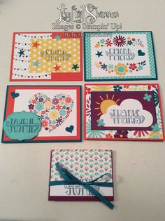 I made 4 cards and 1 mini album with the Project Life mini card collection called This Day from the Sale-A-Bration catalog. Get these cards for FREE with a qualifying purchase! Shannon Harris, Stampin' Up! Independent Demonstrator, www.Facebook.com/LifeByShannon