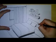 Como desenhar um quarto | How to Draw a Bedroom - YouTube