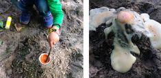 Das ist ein super Experiment mit einfachen Materialien und sogar schlechtwettergeeignet: Unser Spielplatz-Vulkan istratzfatz gemacht, sorgt für einen großen Wow-Effekt und macht Spaß! Materialien für den Spielplatz-Vulkan 2 Esslöffel Backpulver Wasser Essig Lebensmittelfarbe oder ein bisschen Farbe ½ Teelöffel Salz ein bis zwei Spritzer Spülmittel Plastiklöffel Kunststoffbecher, am besten transparent Füllt euren Kunststoffbecher mit ca. …