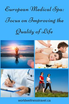 What is a medical spa? It is a health and rehabilitation center where visitors can improve their health, prevent illnesses and treat some medical conditions. Medical Spa, Wellness Center, Medical Conditions, Travel Style, Tourism, Therapy, Health, Fitness, Life