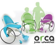 Brightly colored wheelchairs, designed especially for the youngest consumers. >>> See it. Believe it. Do it. Watch thousands of SCI videos at SPINALpedia.com