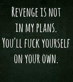 And its already started.... #revenge